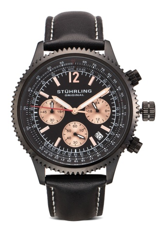 Stuhrling Original black Stuhrling Original Monaco Watch ST251AC33MZMMY_1