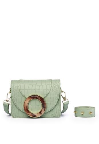 Milliot & Co. 綠色 Hesy Sling Bag 8C3E3AC9AE8F0BGS_1