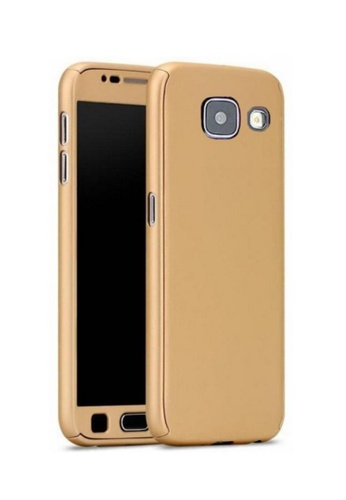 MobileHub gold 360 Degree Full Body Defender Case With FREE Tempered Glass For Samsung Galaxy A7 2017 MO220AC64FZJPH_1