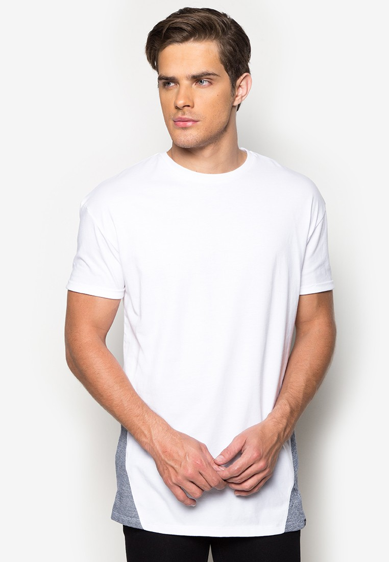 Lean Ringer Tees with Chambray Combi