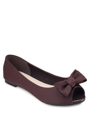 露趾蝴蝶結平底鞋, esprit tw女鞋, 芭蕾平底鞋