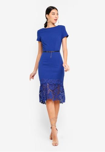 Paper Dolls blue Cobalt Pephem Dress 1C561AADD9CF73GS_1