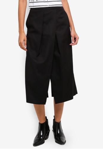 Hopeshow black High Waist 3/4 Capri Pants CAE0AAACF74498GS_1