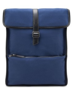 Cotton Twill Flap Backpack