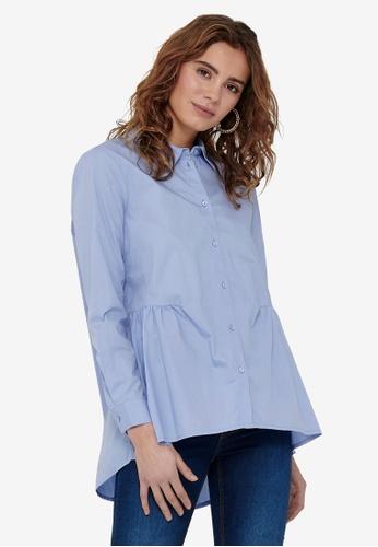 ONLY blue New Canberra Life Shirt E339EAAB4A4932GS_1