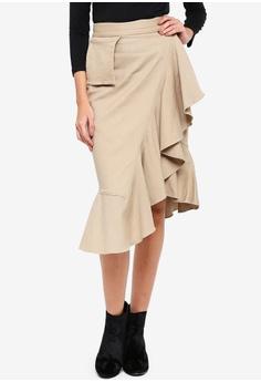 4575a8586f8 Alia B. green Esmerelda Ruffled Skirt BBA2DAA1E16553GS 1