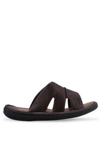 Bata brown Slip On Sandals 8B270SH3DD8A00GS_1