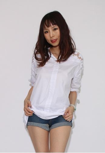 Seoul in Love white Yeon Blouse in White 605A7AA15EC19DGS_1