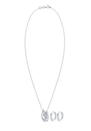 Elli Germany silver Elli Germany Premium Jewelry Set Circle Knot Geo Swarovski Crystals 925 Sterling Silver AB9B6ACB10A46BGS_1