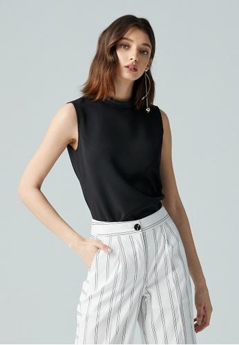 iROO black Basic Vest 94C9FAAC556D3EGS_1