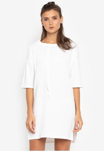 Susto The Label white Avery Hood Dress 61745AA2B5D25BGS_1