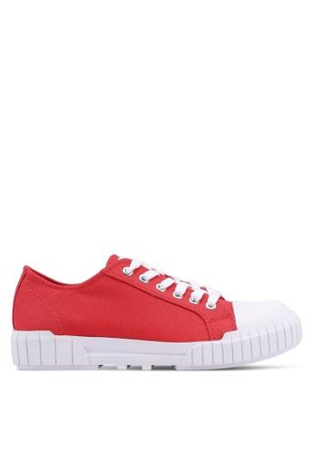 Calvin Klein red Beato Sneakers 1FAE6SHA4DA419GS_1