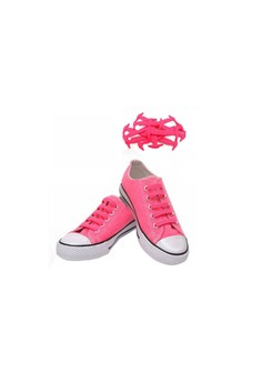 No Tie Silicone Shoe Laces Size For Children - Pink