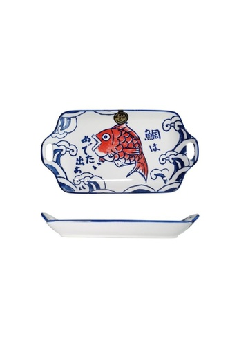 Table Matters multi Red Tai - 11.8 inch Rectangular Plate with Handles 4CF3EHLF164319GS_1
