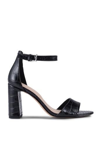 ALDO black Uniolia Open Toe Ankle Strap Block Heels 8A059SHE69D456GS_1