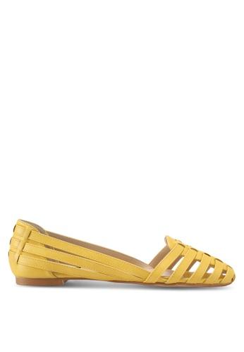 ZALORA beige Weaved Flats 6BD3BSH344B393GS_1