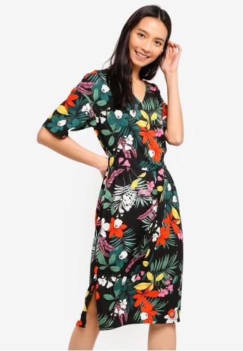 c93dd8ce781a66 Buy ZALORA Split Hem Basic Midi Dress Online on ZALORA Singapore