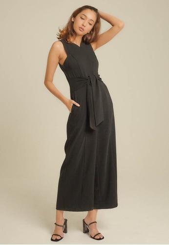 Dressing Paula black Cady Twill Jumpsuit 67ADFAA247C75AGS_1
