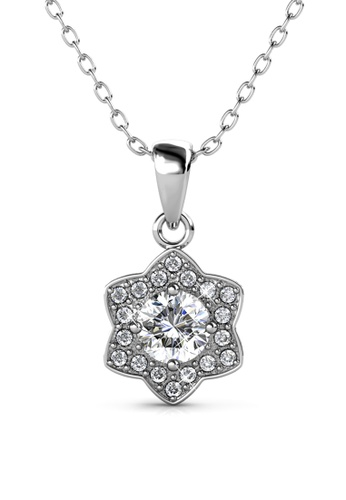 Her Jewellery silver Estella Pendant (White Gold) - Embellished with Crystals from Swarovski® AD36AAC7F045ABGS_1