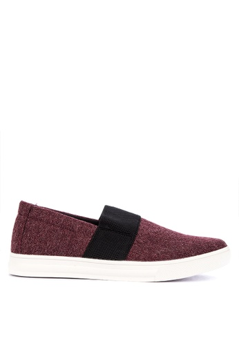BENCH red Melange Pattern Slip Ons 94437SHEBC0FA5GS_1