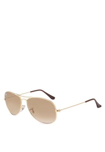 Ray-Ban gold RB3362 Sunglasses 5CA74GL318403FGS_1