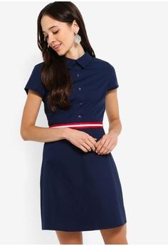 4b6edd4245 Something Borrowed navy Stripe Trim Shirt Dress 99F77AA01D8602GS 1