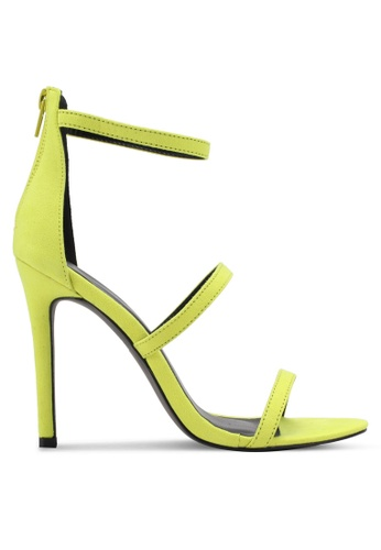 Something Borrowed yellow Tri Strap Open Toe Heel 811B8SHC73073AGS_1