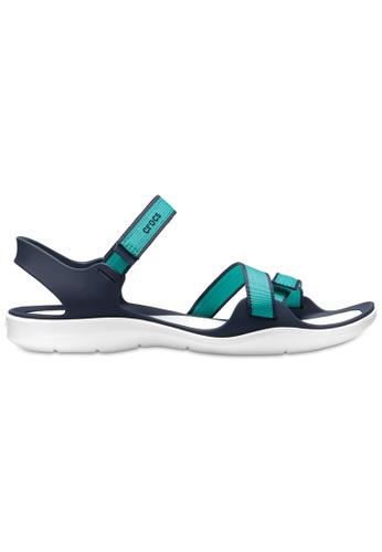 Crocs green Women's Swiftwater Webbing Sandal TTl A73CBSHF714E01GS_1
