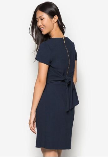 裹式zalora開箱繫帶連身裙, 服飾, 洋裝