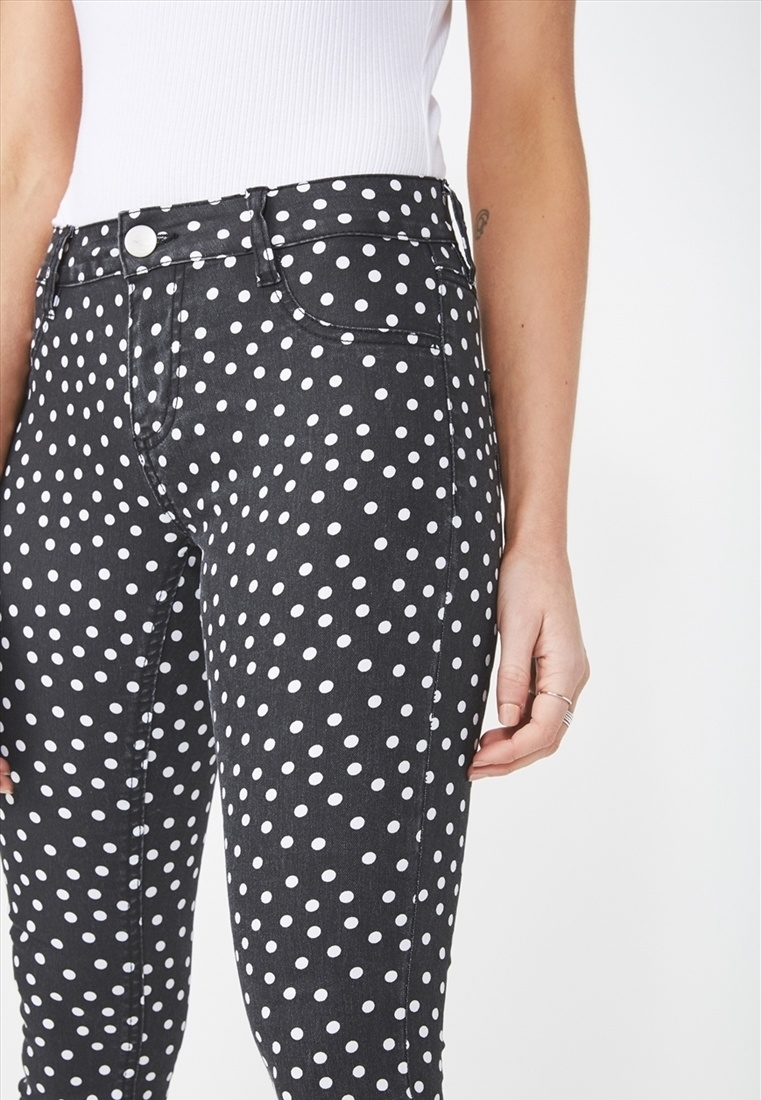 Jegging Cotton Rise On Mid Multi FHqA87w