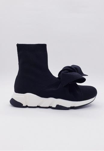 HERME MONY black Japanese Knit Sneakers EA419SH78A0715GS_1