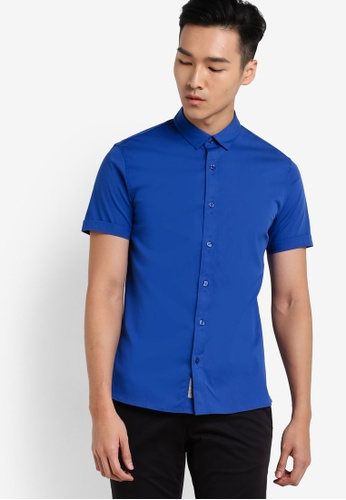 Calvin Klein 藍色 Wings Short Sleeve Shirt - Calvin Klein Jeans CA221AA27SDGMY_1