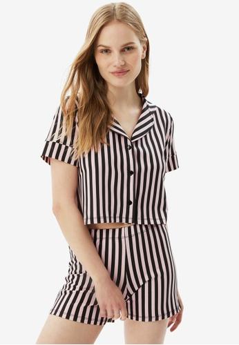Trendyol multi Stripe Pyjama Set 1DCFCAA7DFF888GS_1