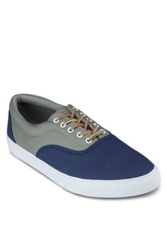 Contrast Colour Lace- Up Sneakers