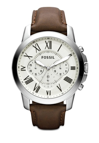 Fossil brown Grant Chronograph Watch FS4735IE DDC25AC43B8BA2GS_1