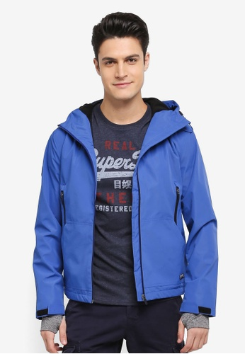 Superdry blue HOODED ELITE WINDCHEATER DD1C2AA929A38EGS_1