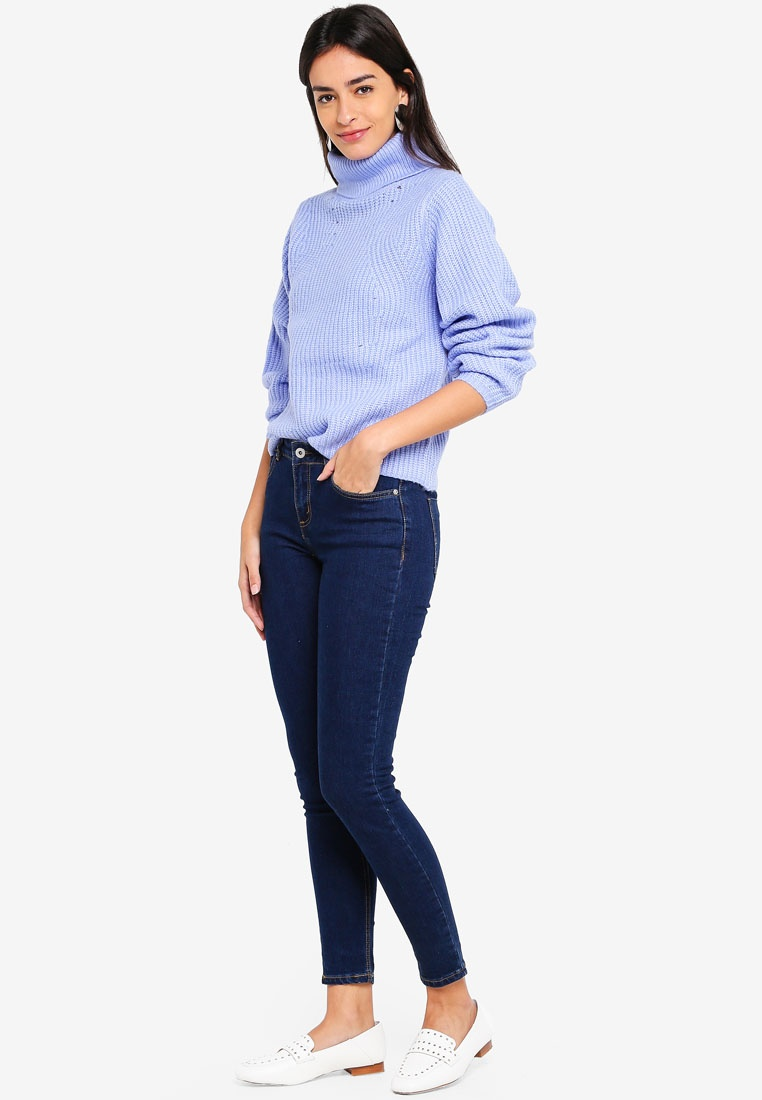Jeans The Skinny Rise True Factorie Mid Blue xHUqw11