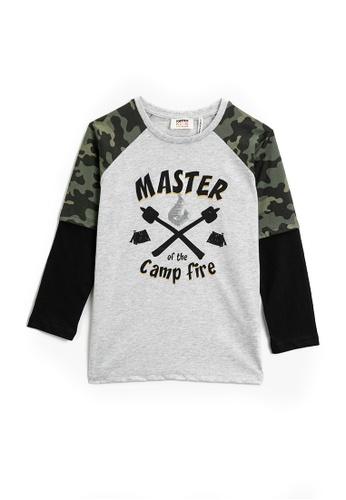KOTON grey Long Sleeve T-Shirt 43273KAB00CE6DGS_1
