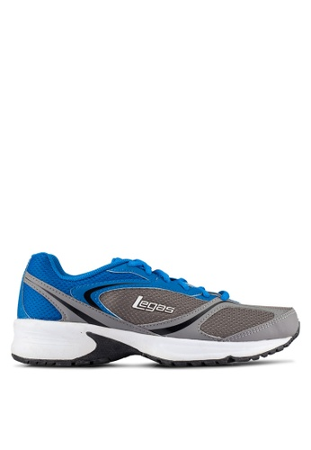 Legas grey and blue Neptune LA Men's Shoes LE684SH0S2MRMY_1