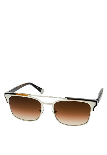 HEX EYEWEAR silver and brown Lawyer - Cicero - Sunglasses - Made in Italy HE671AC2V1J5HK_1