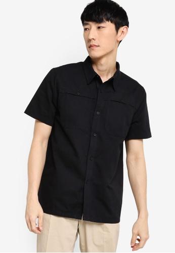 ZALORA BASICS black Boxy Fit Utility Shirt CEF76AA6C005D9GS_1