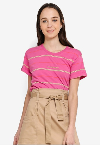 Cotton On pink Tbar Fox Graphic T shirt E80A6AA66FD8D2GS_1