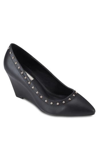 鉚釘楔型跟esprit 品牌尖頭高跟鞋, 女鞋, 楔形鞋