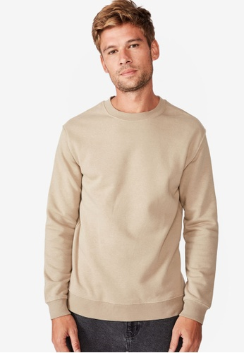 Cotton On brown Essential Crew Fleece 6A57EAA040BE96GS_1