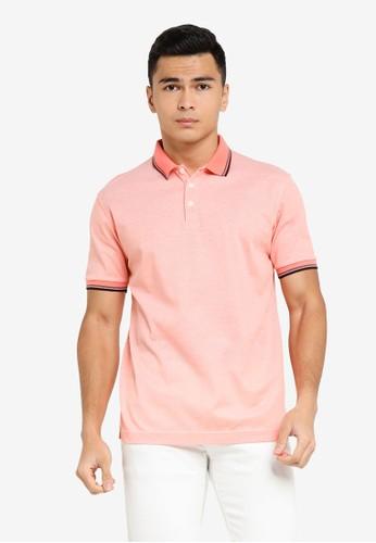 UniqTee orange Slim Fit Twin Tipped Polo Shirt F9E83AA79DD724GS_1