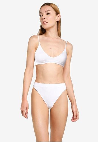 Cotton On Body white Seamfree Triangle Bralette/High Cut Brasiliano Set 8F30DUS867995FGS_1
