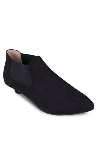 麂皮低根踝靴,zalora 衣服尺寸 女鞋, 靴子