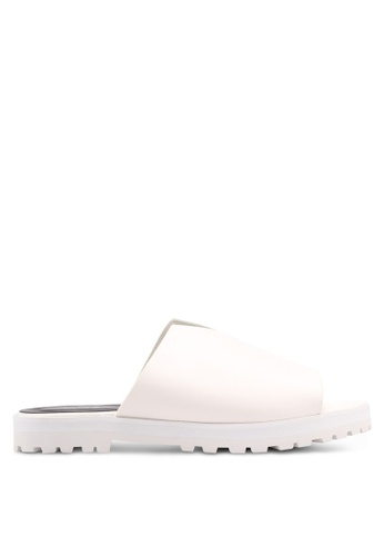 Something Borrowed white Sandals With Cut-In Detail 849C9SHFB9E356GS_1