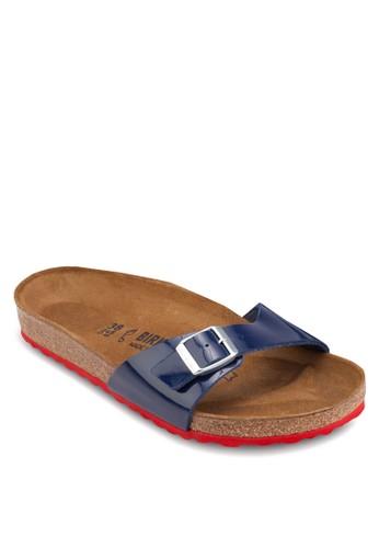 Madrid 扣環一字帶拖鞋涼鞋,zalora時尚購物網的koumi koumi 女鞋, 鞋