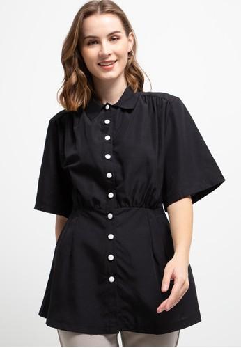 LLACES CLOTHING black Paris Blouse A2DBDAA523F6B5GS_1